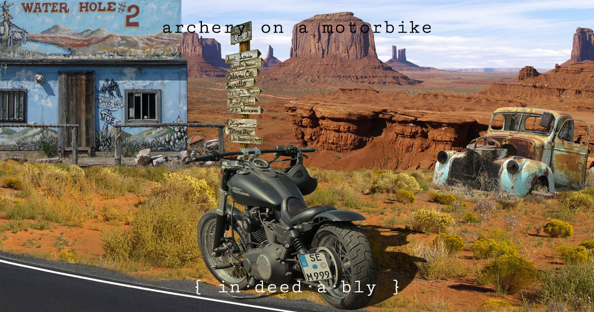 Archery on a motorbike. Image credit: drozdzok.