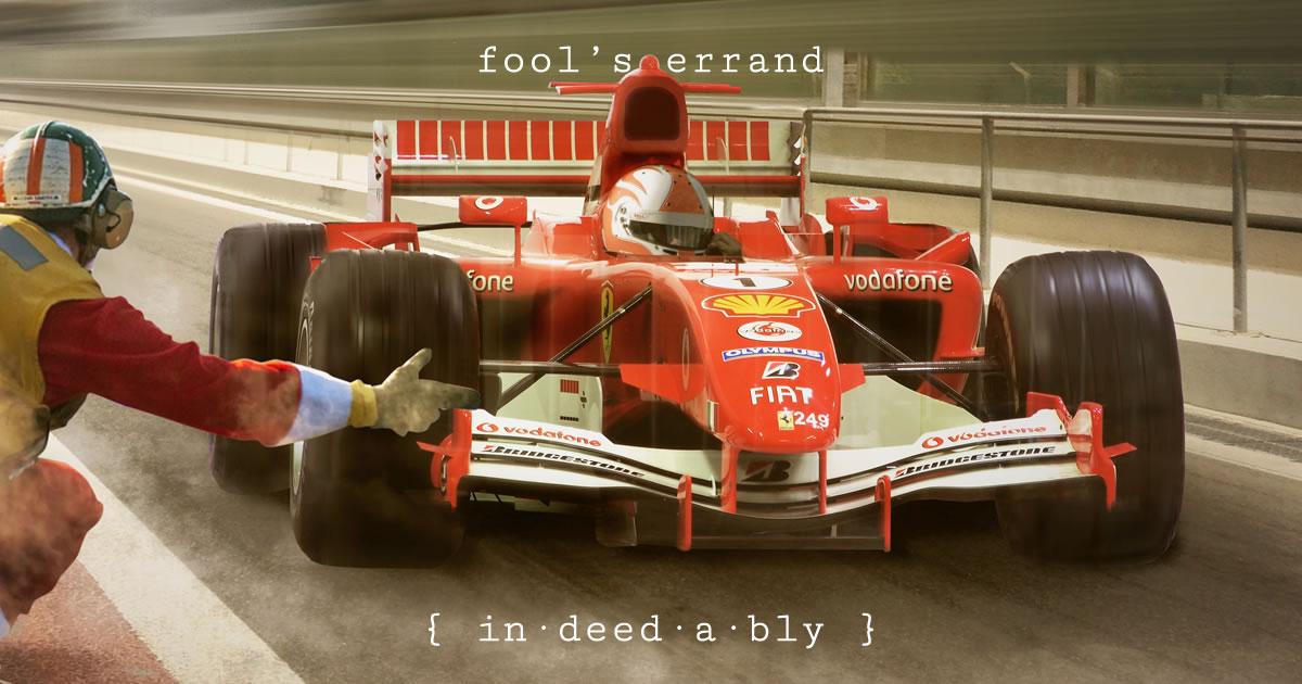 Fool's errand. Image credit: Papafox.