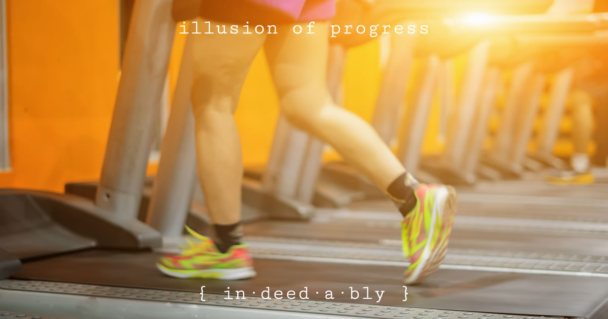 Illusion of progress. Image credit: asawin.