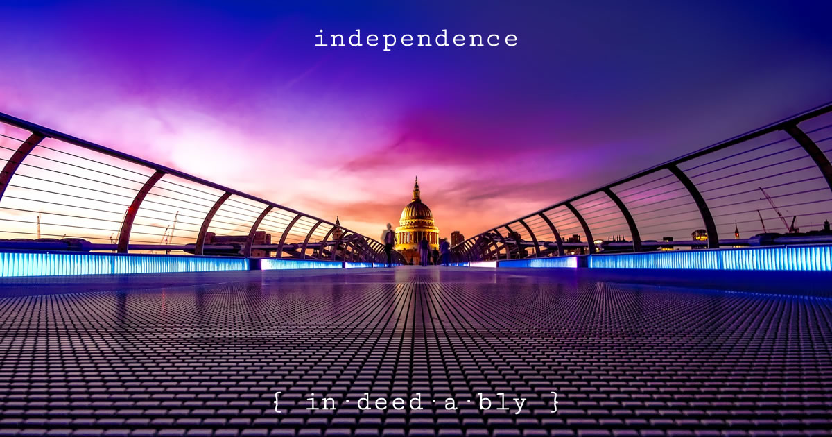 Independence. Image credit: Pixabay.