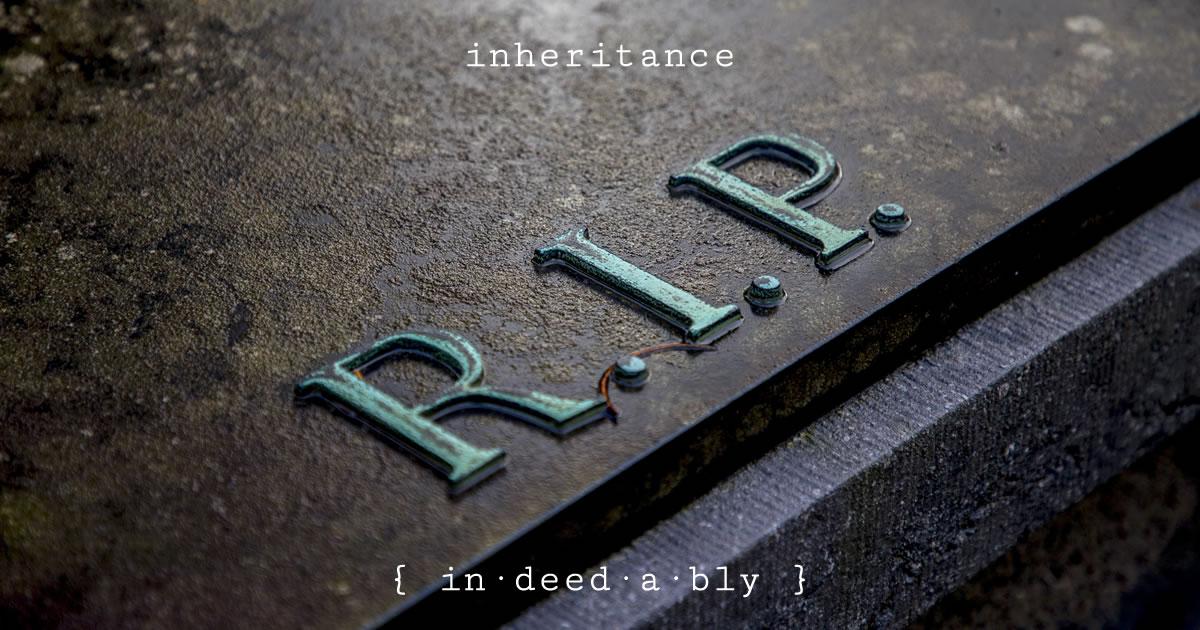 Inheritance. Image credit: RobVanDerMeijden.