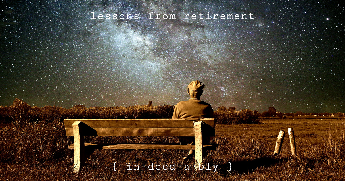 Lessons from retirement. Image credit: TheDigitalArtist.