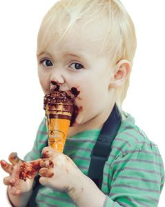 Melting ice cream. Image credit: StockSnap.