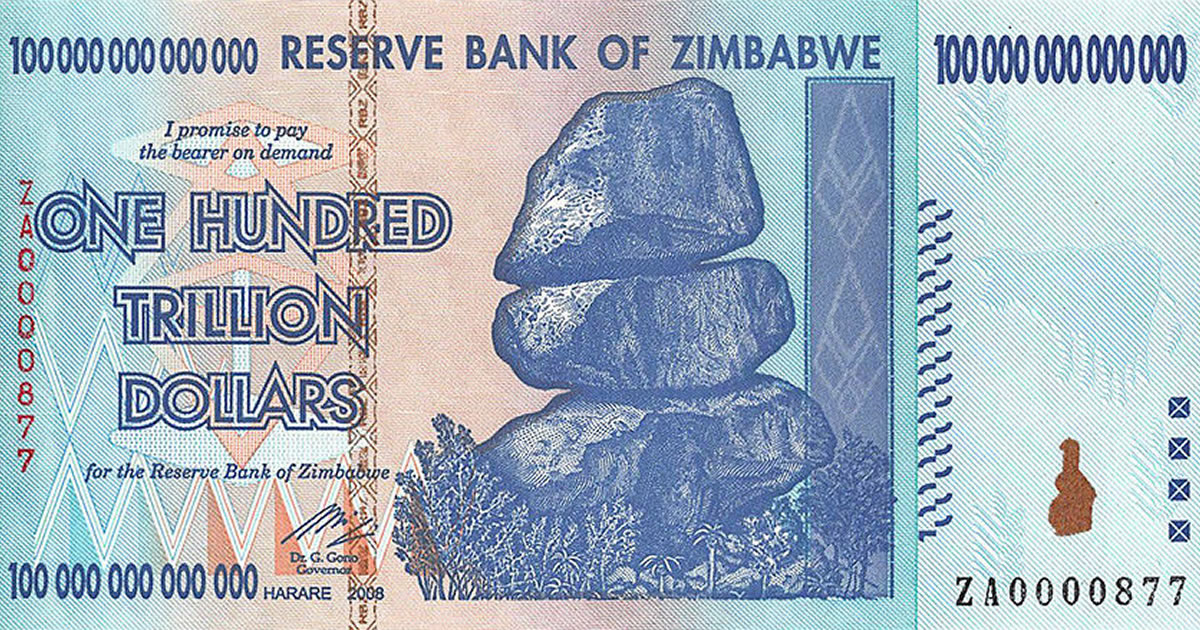 100 trillion dollars. Image credit: BankNoteWorld.