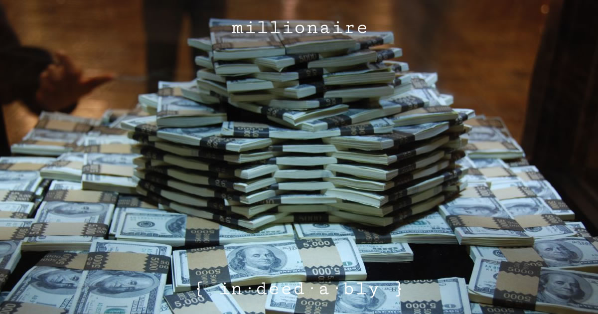 Millionaire. Image credit: Juan Barahona.