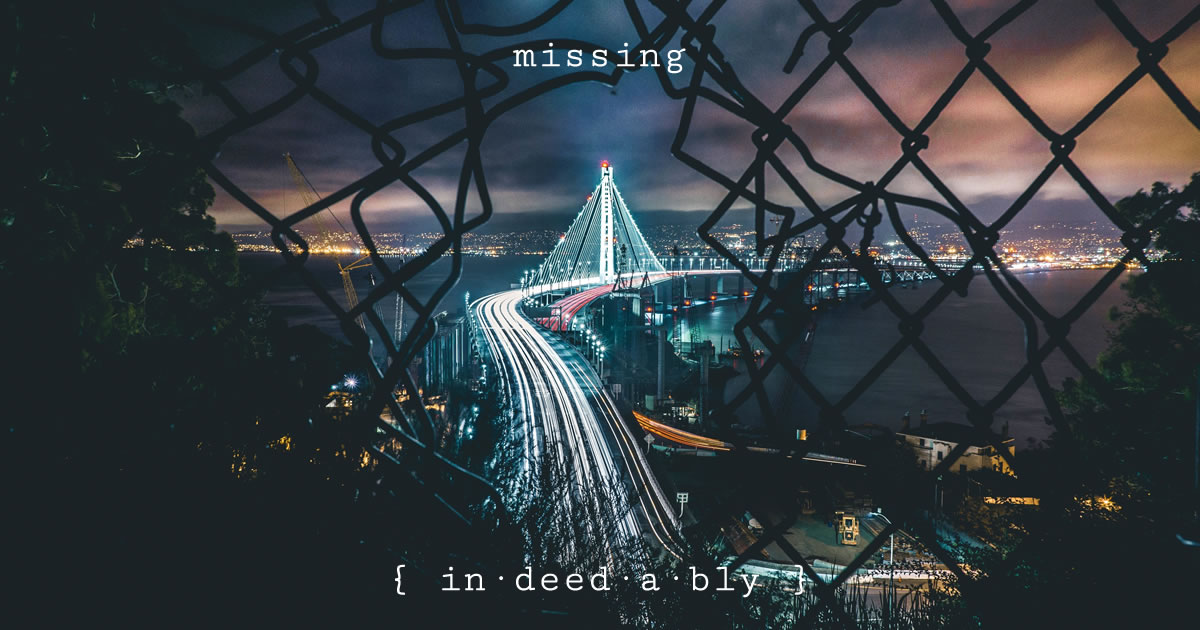 Missing. Image credit: Free-Photos.