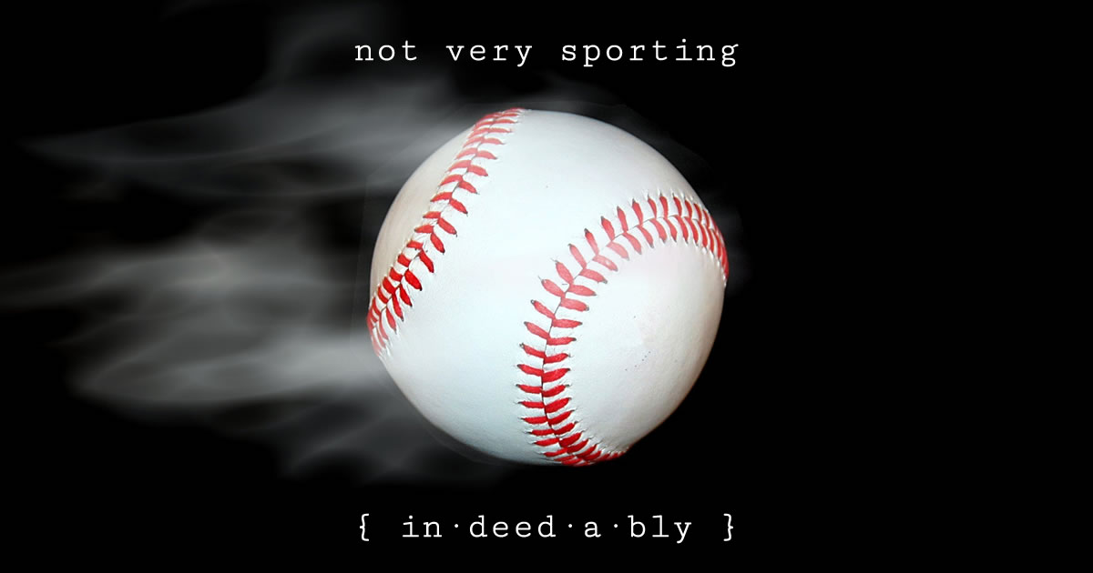 Not very sporting. Image credit: paulbr75.