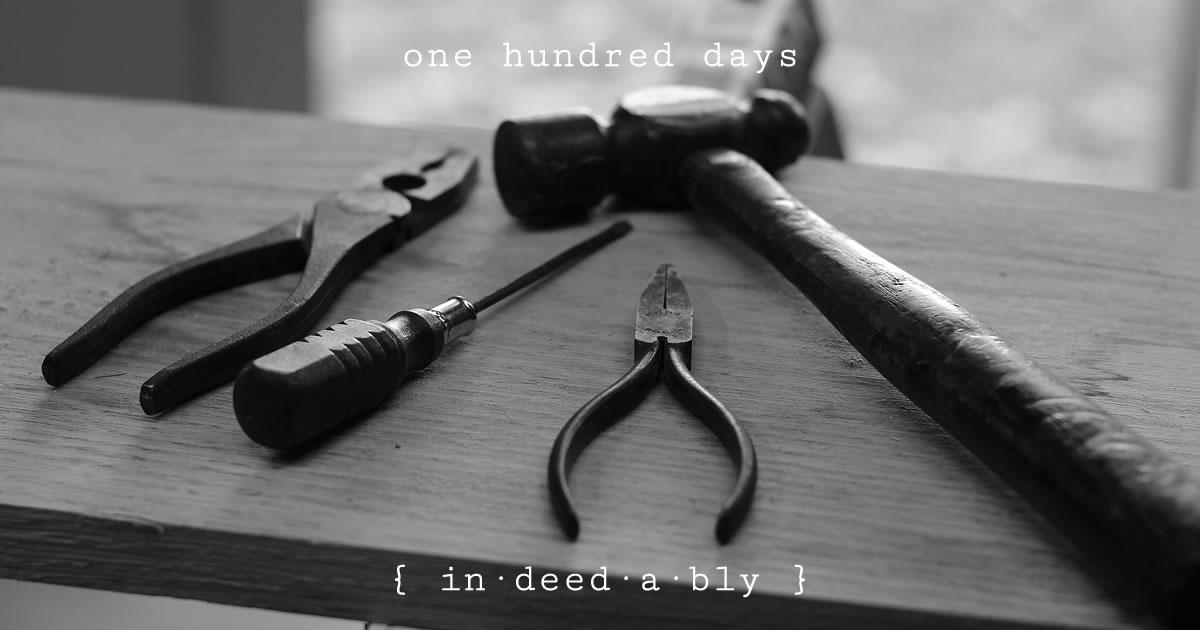One hundred days. Image credit: Hunter Haley.