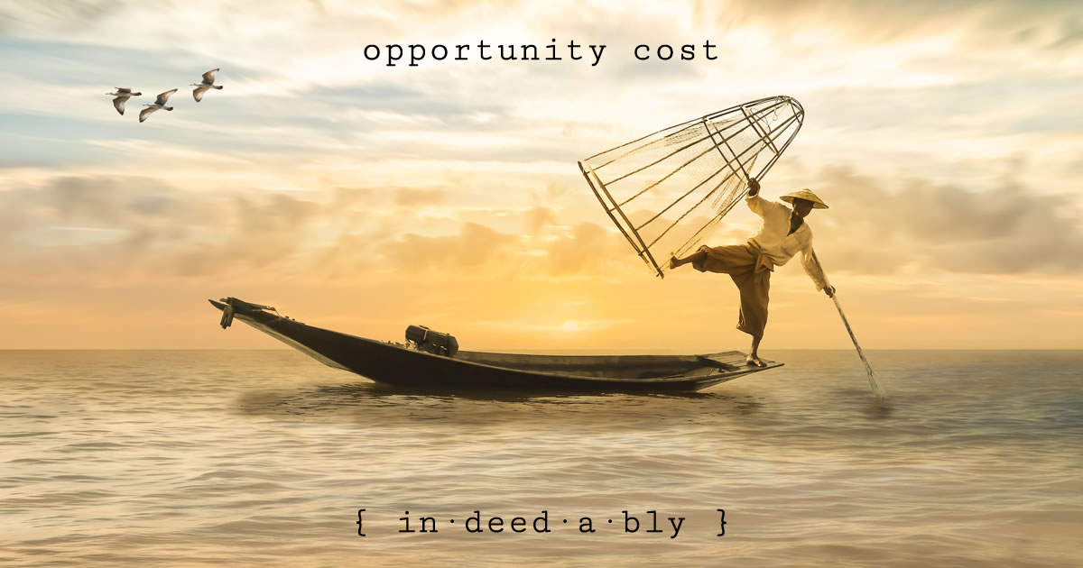 Opportunity cost. Image credit: Myriams-Fotos.