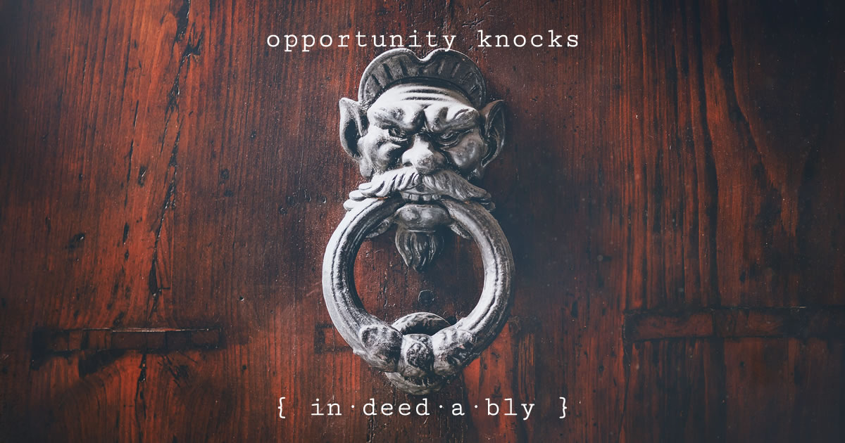 Opportunity knocks. Image credit: Pikrepo.