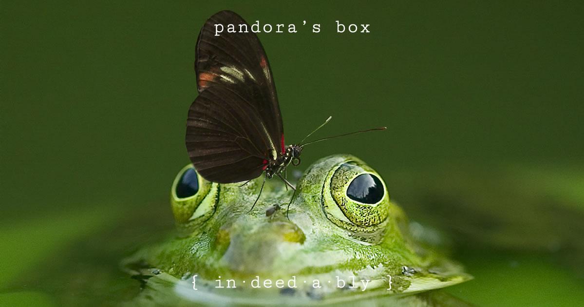Pandora's box. Image credit: FrankWinkler.