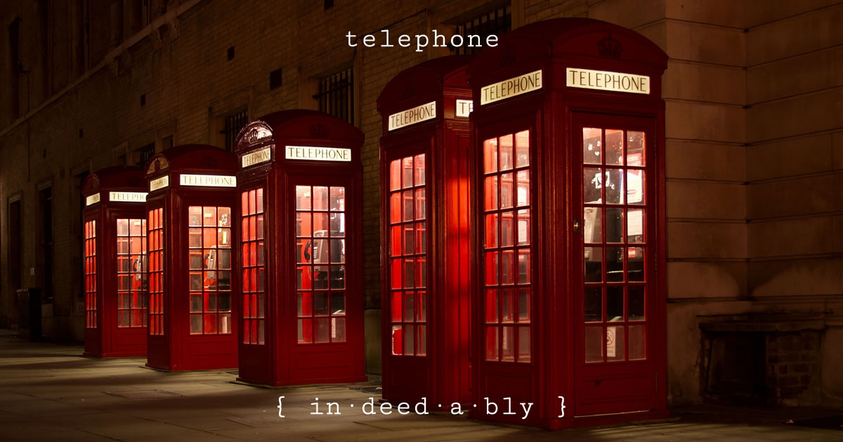 Telephone. Image credit: Marko Pekić.