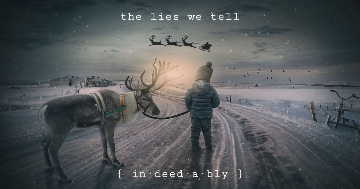 The lies we tell. Image credit: composita.
