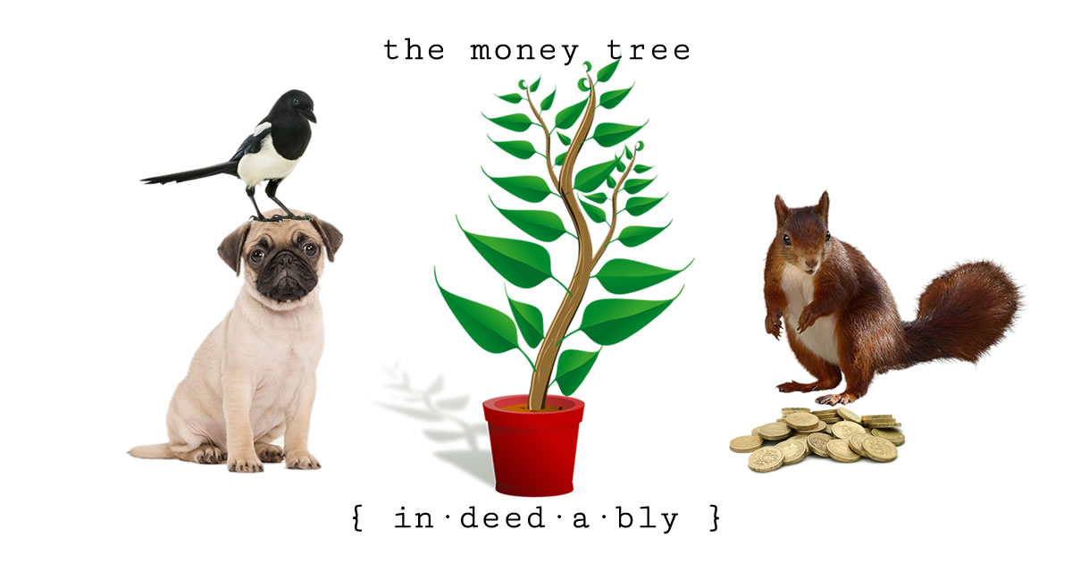 The Money Tree. Image credits: OpenClipart-Vectors, Lifeonwhite, LPuo, StinkPNG, Gellinger.