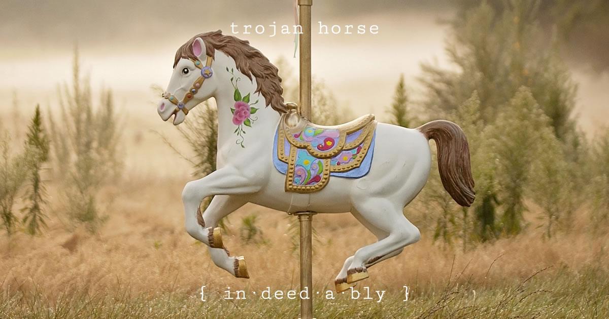 Trojan horse. Image credit: JessicaChristian.