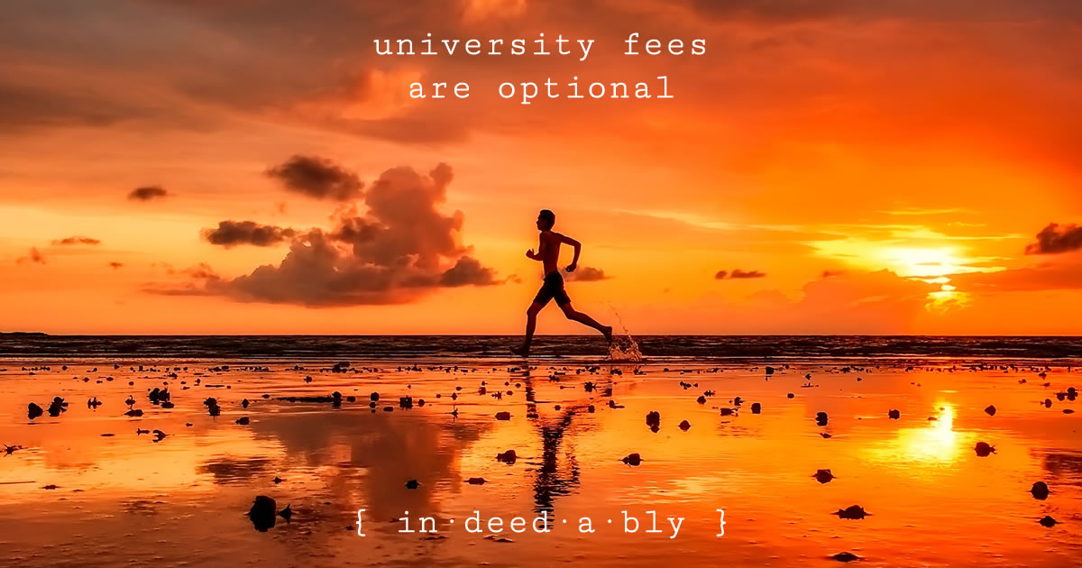 University fees are optional. Image credit: 12019.