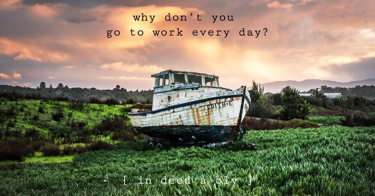 Why don't you go to work every day? Image credit: Falkenpost.